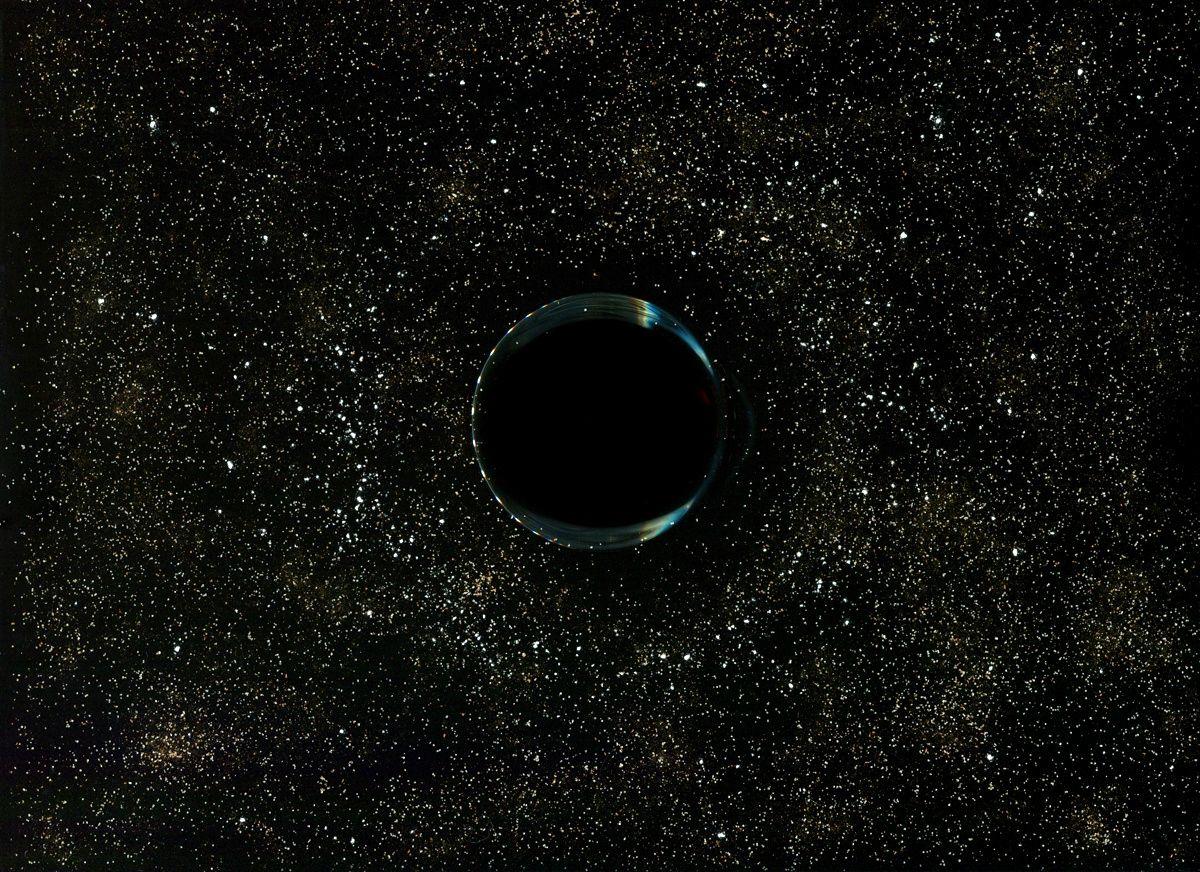 Black hole - bottom of a glass of coffee, salt, sugar, corn starch, cinnamon