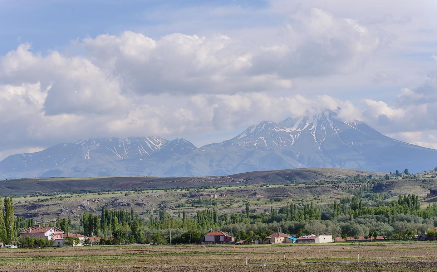 Снимок 20. Вулкан Хасандаг (Hasan Dağı) находится рядом с Долиной Ихлара в Каппадокии. Отдых в Турции, отзывы туристов из России. 1/320, +0.33, 8.0, 100, 92.