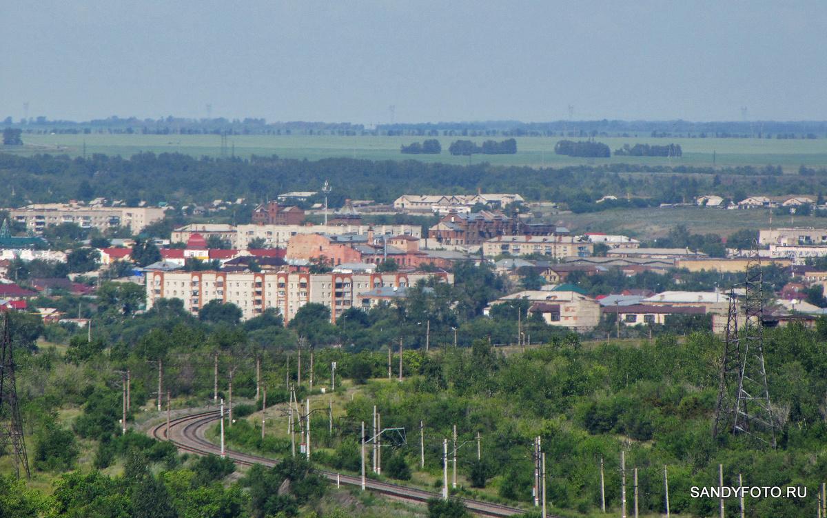 Вид на Троицк с наблюдательной вышки