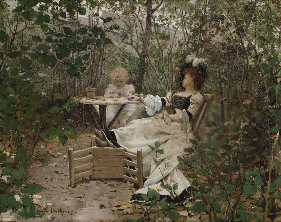 Goûter dans le jardin, 1879