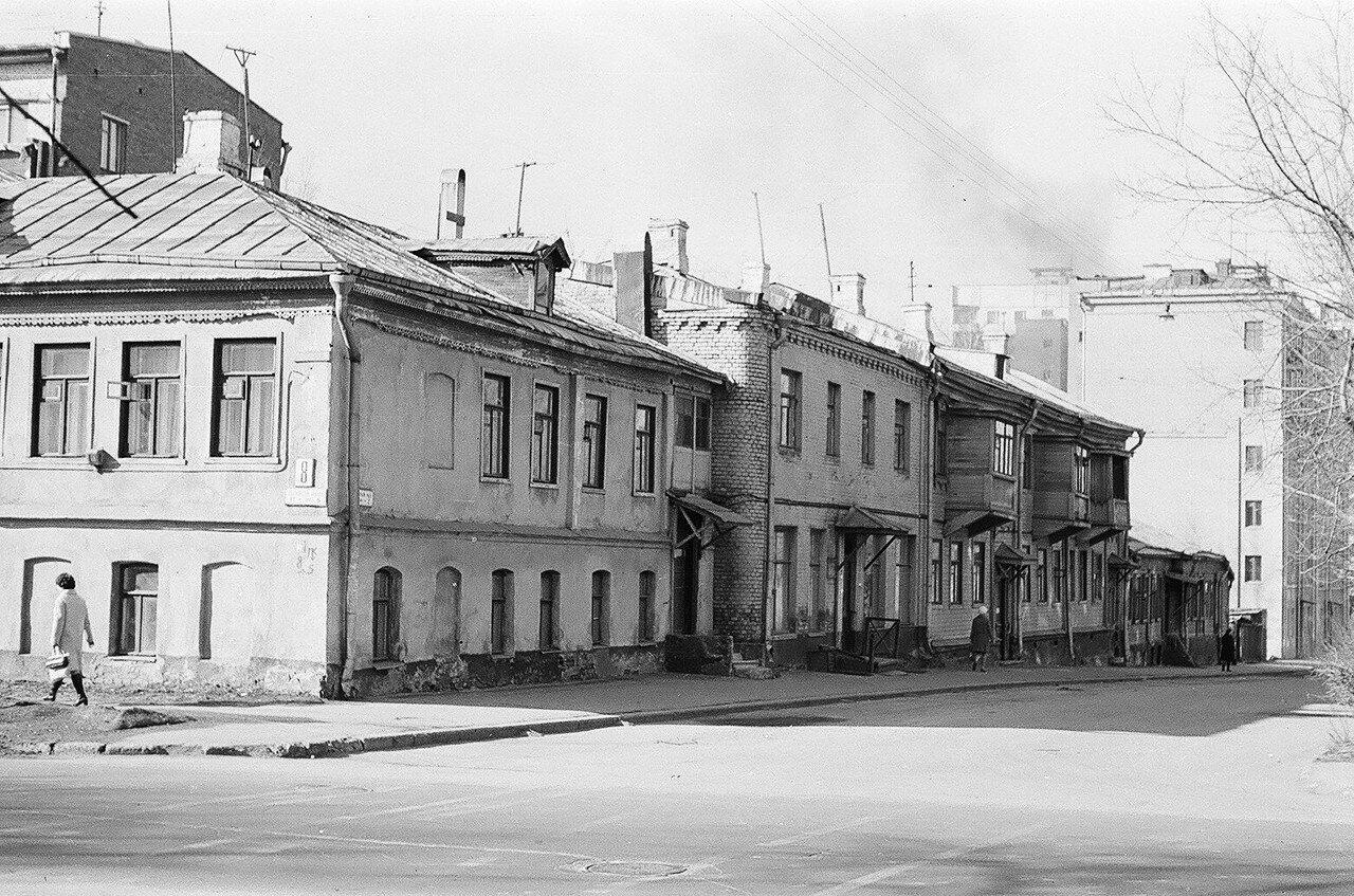 1974. Песочный переулок. Вид в сторону Маленковской улицы