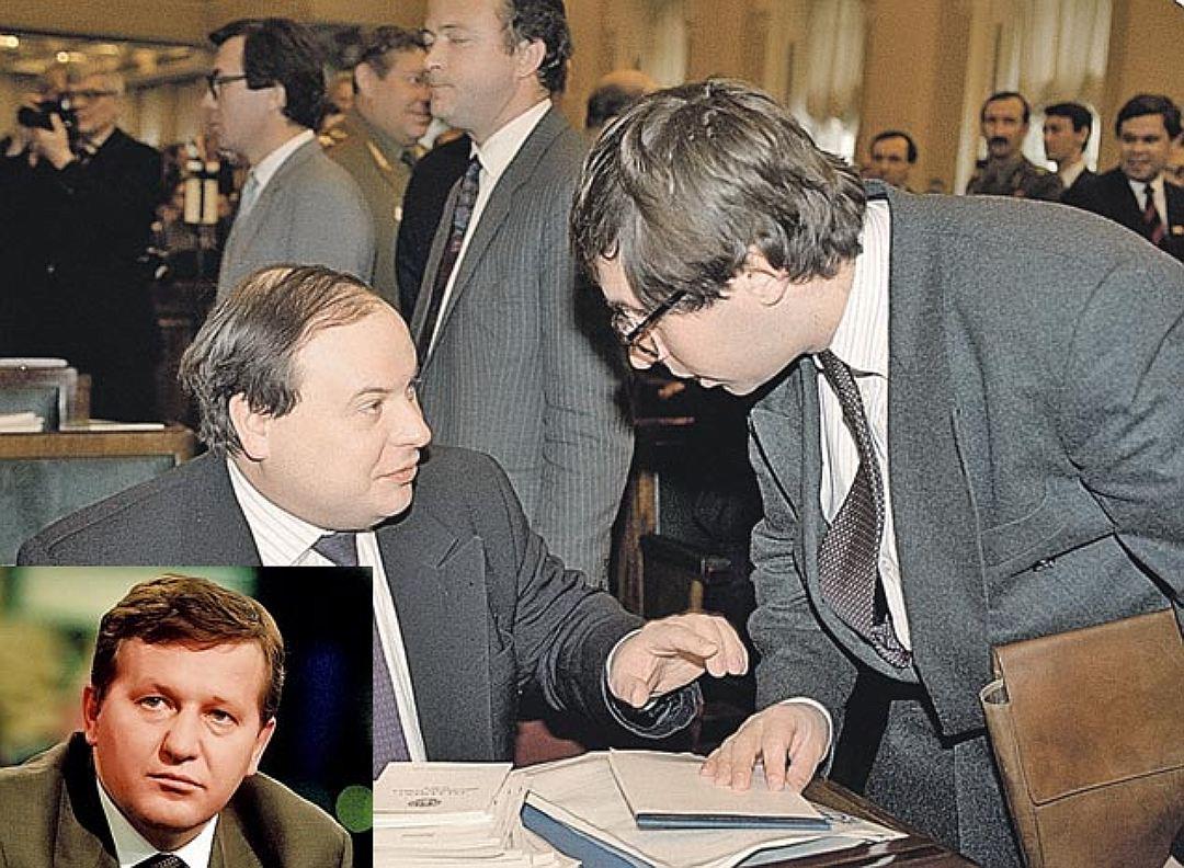Альфред Кох (на фото слева) и Петр Авен (справа от Гайдара)