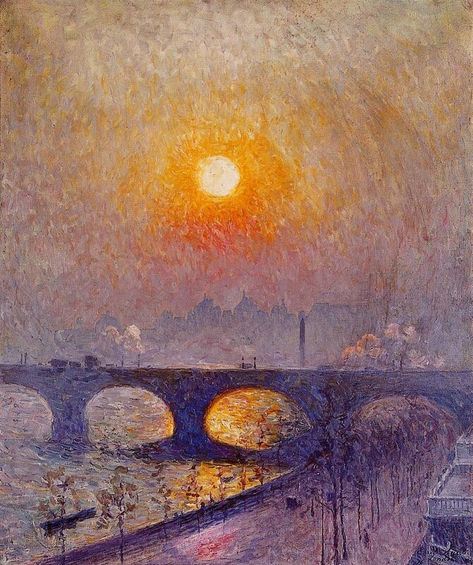 Закат над мостом Ватерлоо Эмиль Клаус