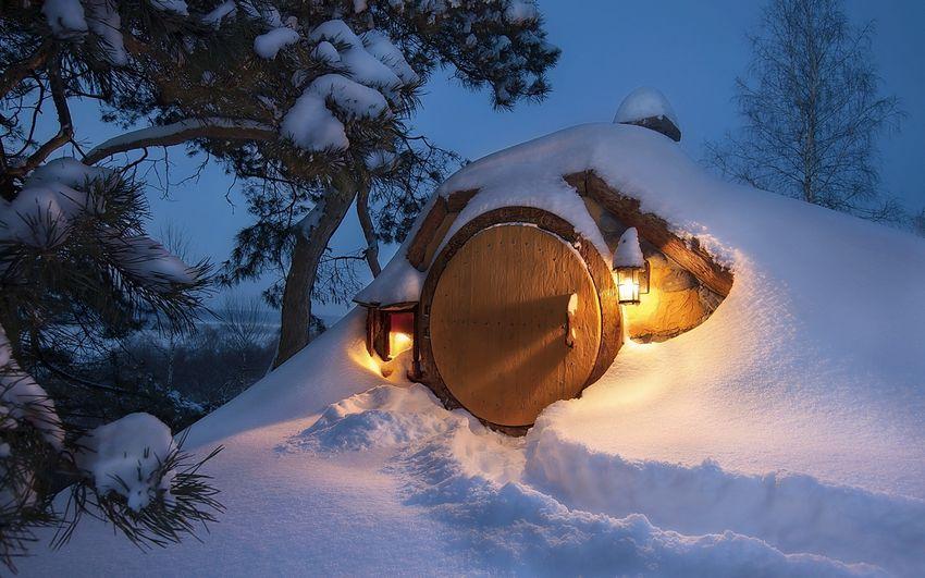 Новый год Сказка Сказочный домик в лесу