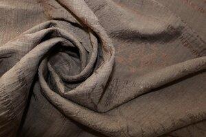 СТ037 590руб-м Плательная ткань с вытравкой цвет приглушенный какао (лен 50%,пэ50%),по факутре ткань похожа на органзу,приятная,чуть прозрачная,для платьев,юбок,топов,блузонов,шир.1,40м,в наличии 4,85м (2).JPG