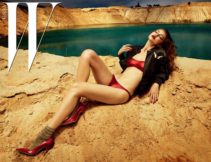 Джиджи Хадид на обложке W Korea