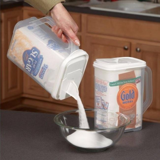 © amazon.com  Контролировать количество сыпучих продуктов стаким диспенсером несоставит труд