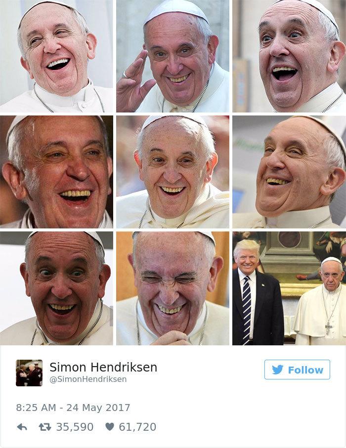 Реакция пользователей социальных сетей не заставила себя ждать. На визит Дональда Трампа в Ватикан и