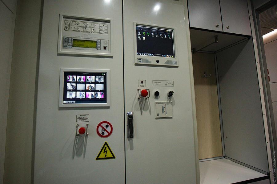 26. Пульт управления вагоном. Здесь и вывод изображений с камер видеонаблюдения.