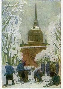 1943. Лыжная тренировка