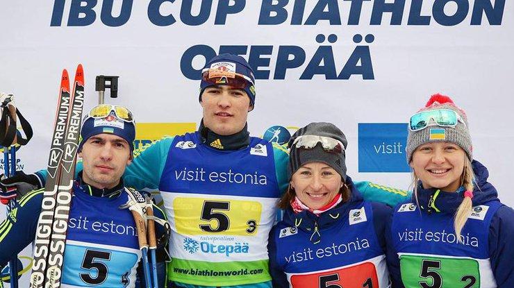 Сборная Украины побиатлону драматично вырвала медаль у РФ наКубке IBU