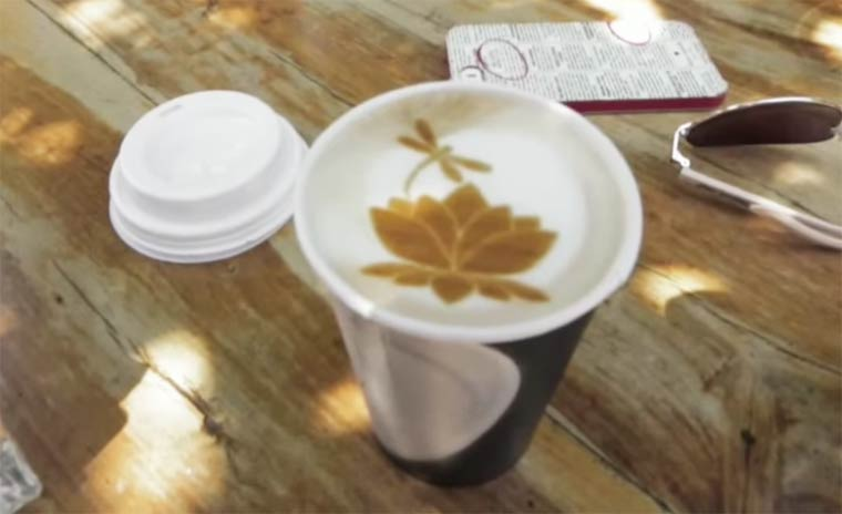 Ripple Latte Art - Printing your images directly on your coffee foam