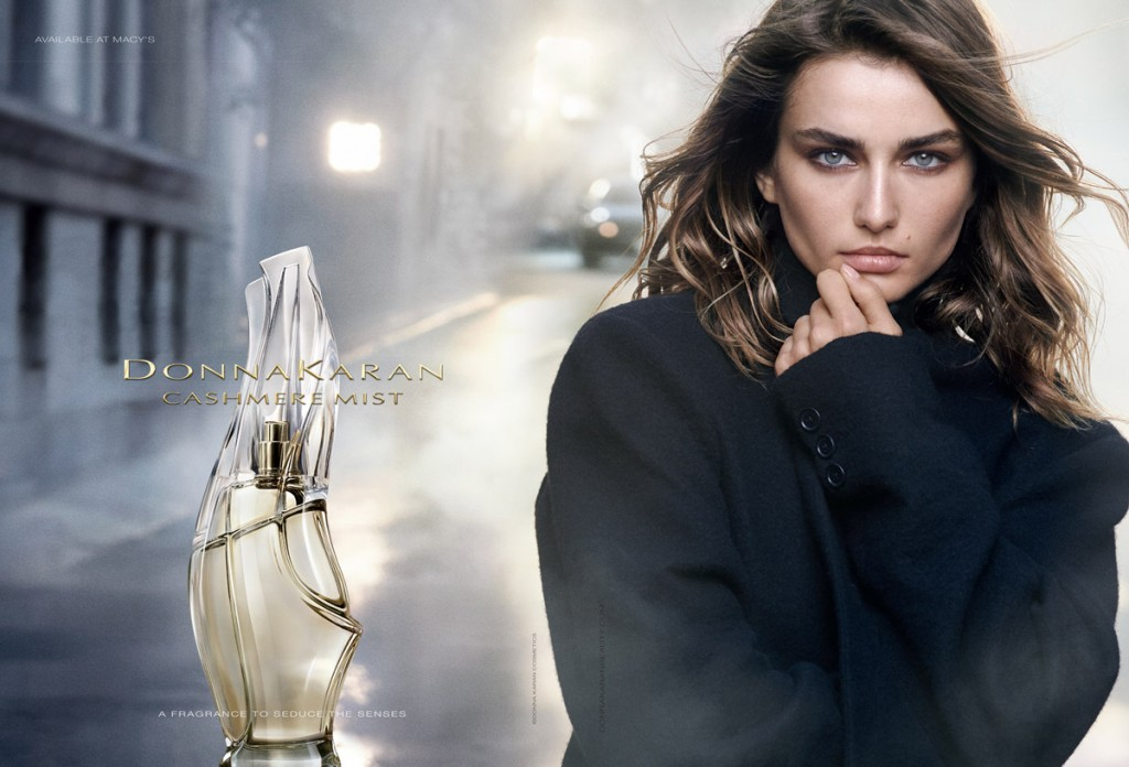 Fashion photographer Peter Lindbergh at 2b Management captures Donna Karan Cashmere Mist fragrance c