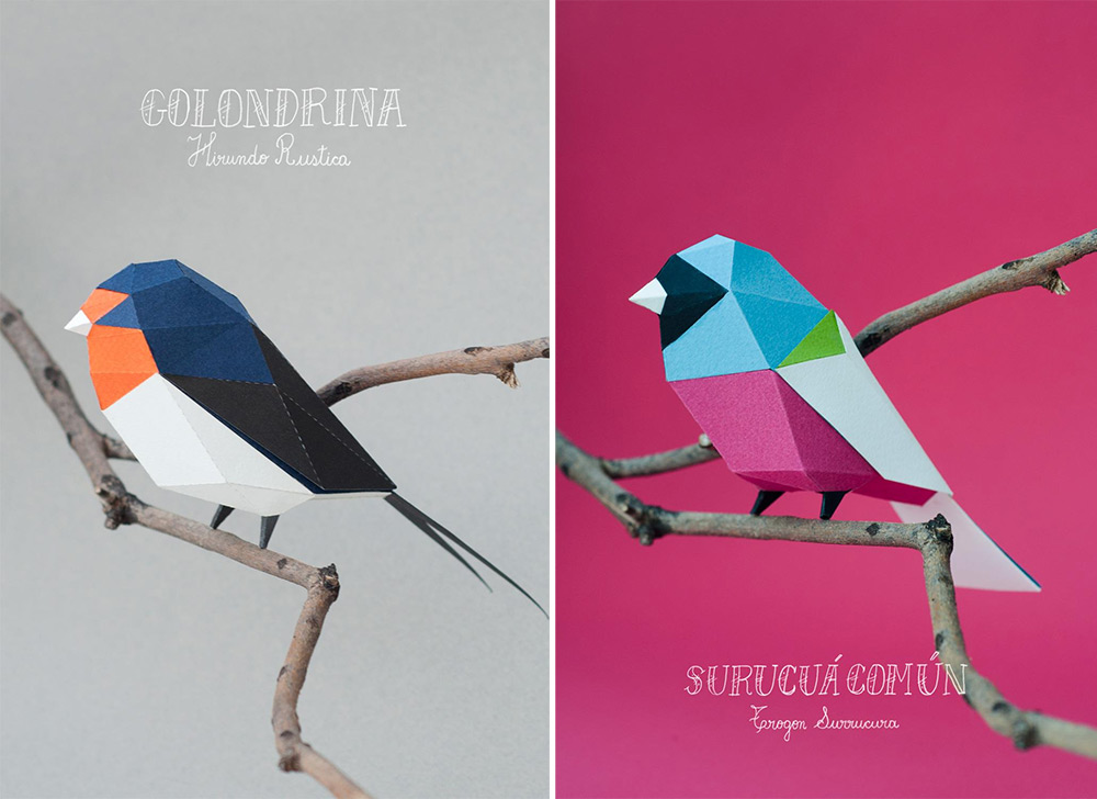 Geometric Paper Birds and Animals by Estudio Guardabosques (9 pics)