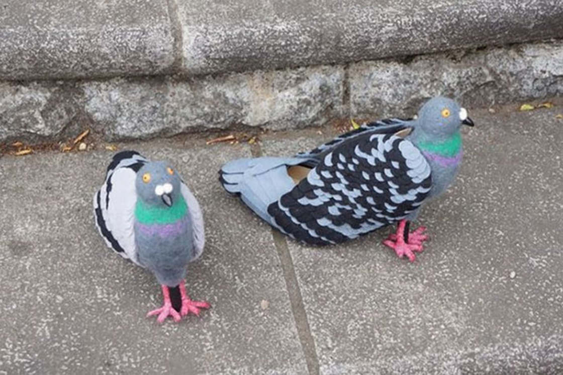 Pigeon Shoes - A designer imagines pigeon-shaped high heels
