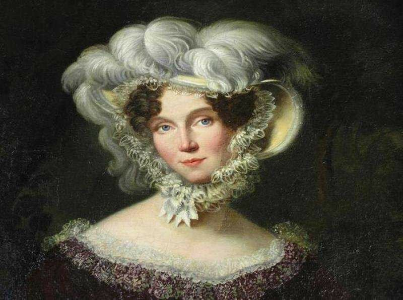 Императрица Елизавета Алексеевна. 1820-е  Эрмитаж (фрагмент).