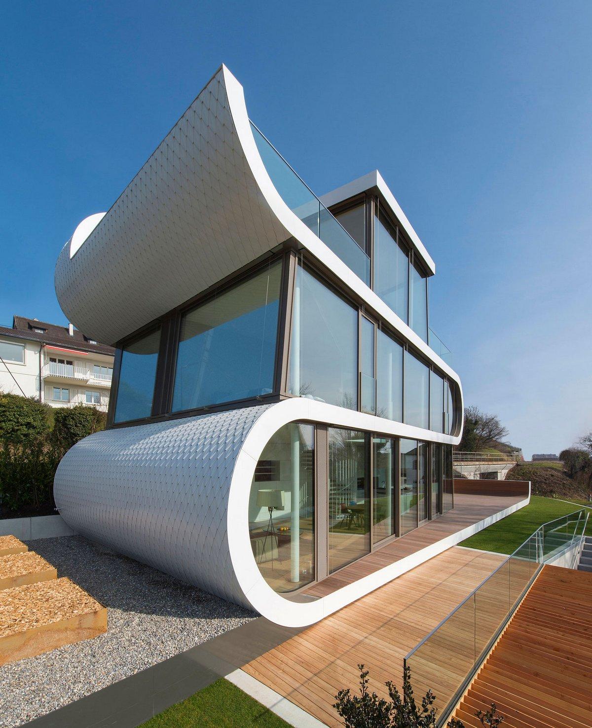 Необычная архитектура частного дома