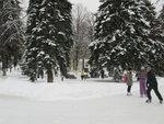 Ледяные дорожки на набережной в Самаре.