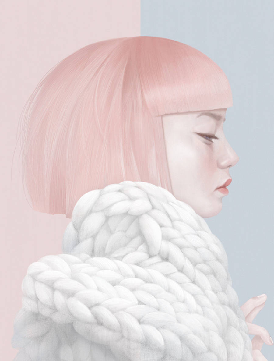 Beautiful & Delicate Pastel Illustrations