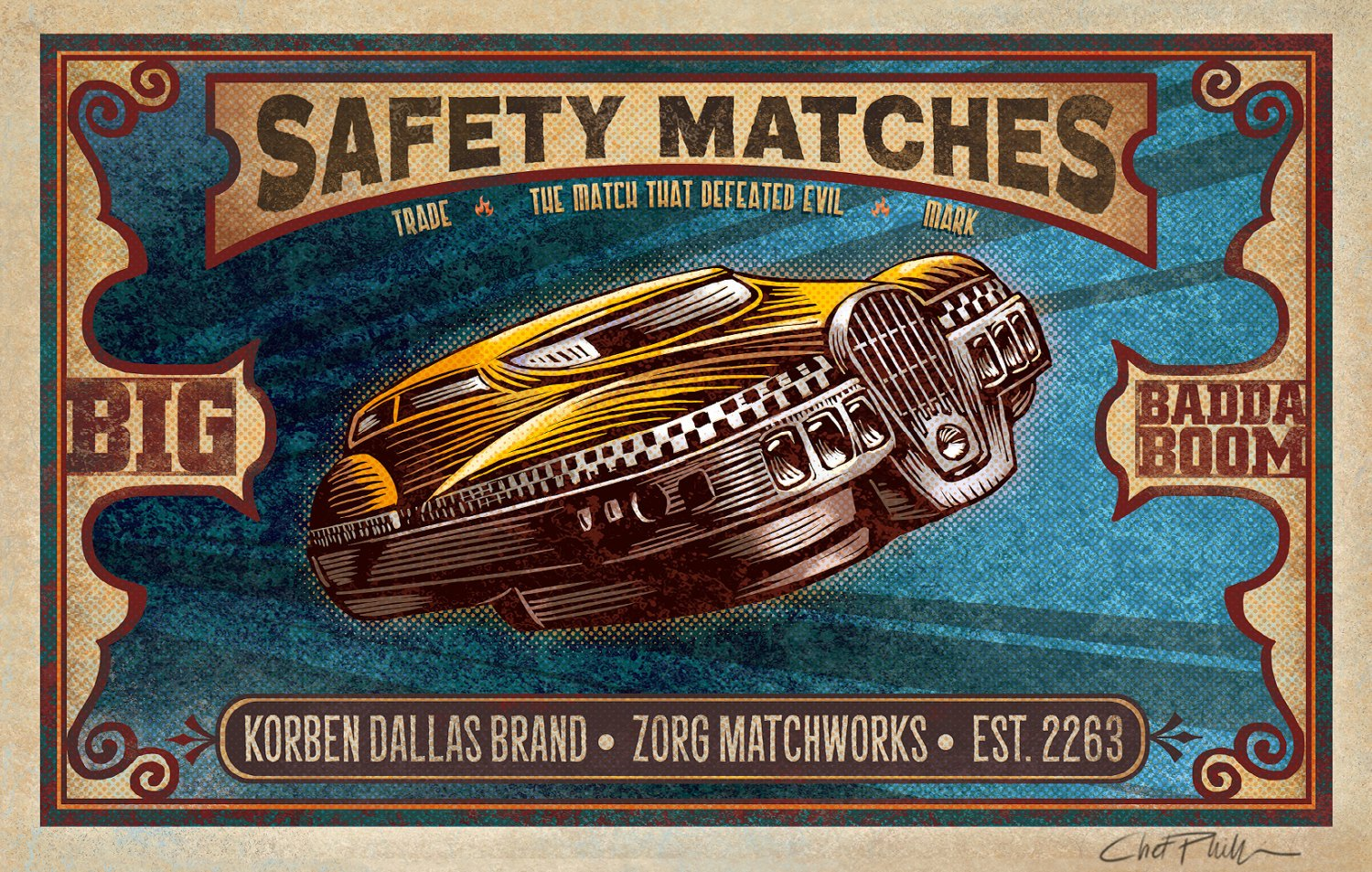 New Pop Matchbox Art by Chet Phillips