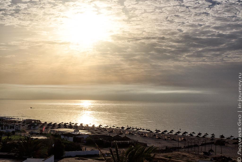рассвет в Тунисе в сентябре