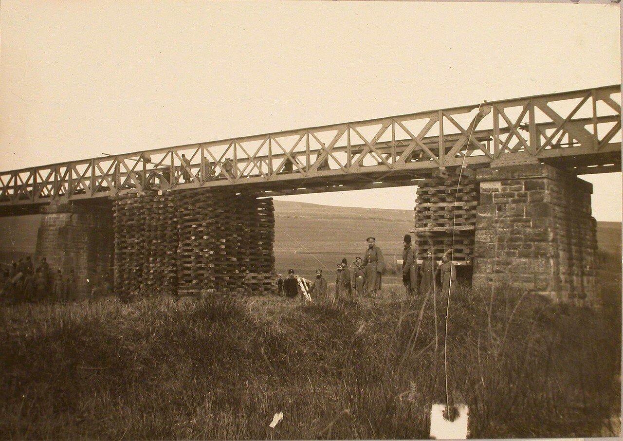 90. Вид восстановленного моста через реку Бялу. Галиция, ст. Тарнов