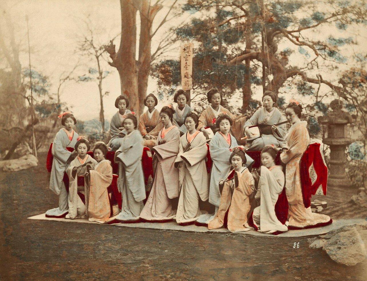 Танцовщицы и музыканты. 1870-е.