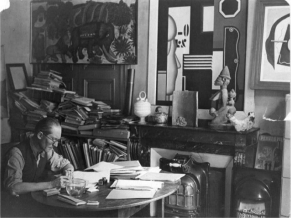1940. Ле Корбюзье в своей студии