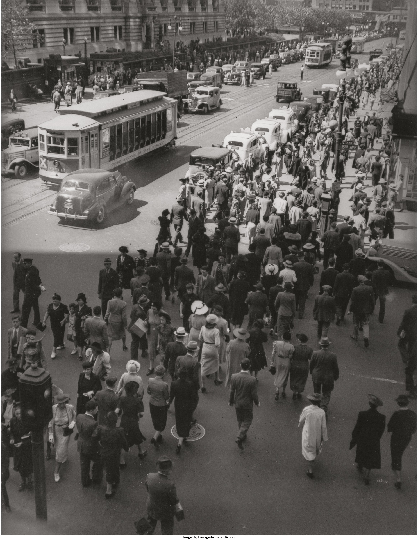 1938. Темп города II, Пятая авеню и 42-я улица. 13 мая