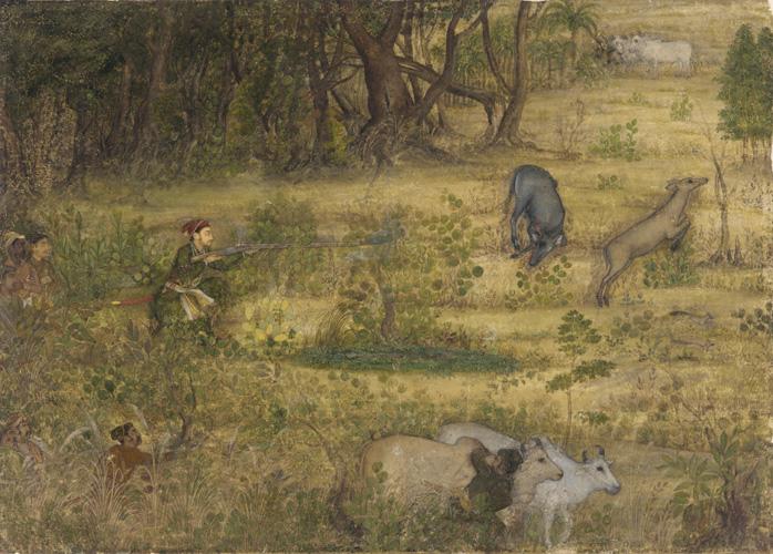 Dara Shikoh Hunting Nilgae ca. 1635 Payag.jpg