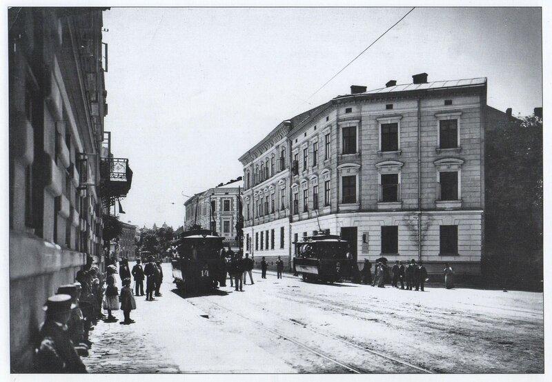 Угол Ивана Франко и Саксаганского в 1894 году