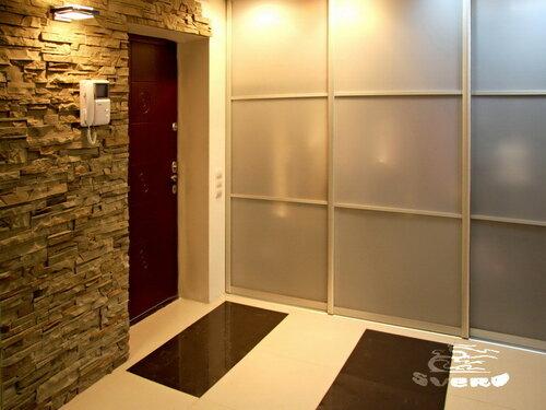 026. интерьер, коридор, камень, посветка