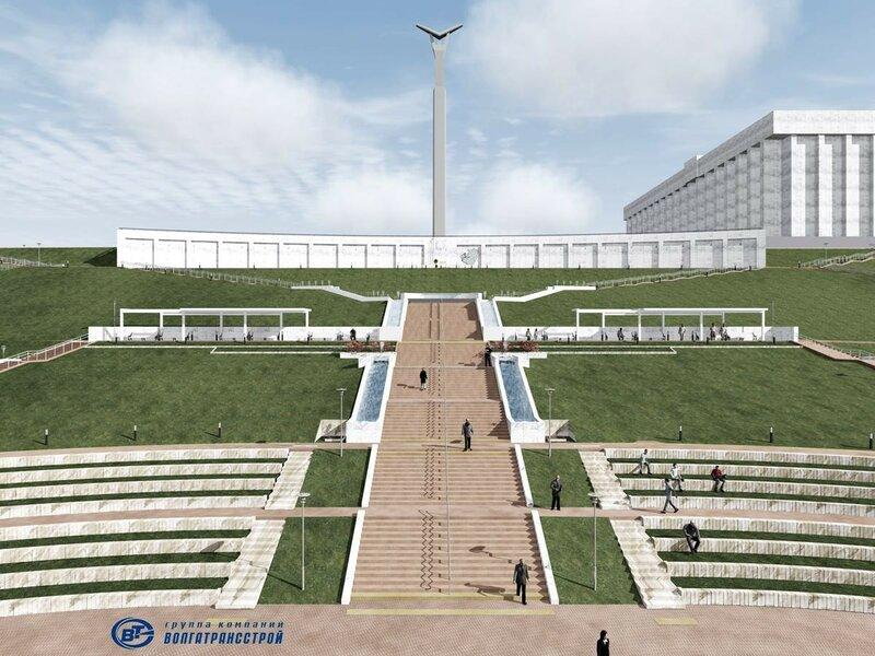 Реконструкция площади Славы