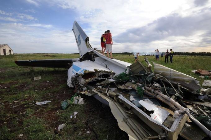 Фото на місці трагедії Боїнга 777