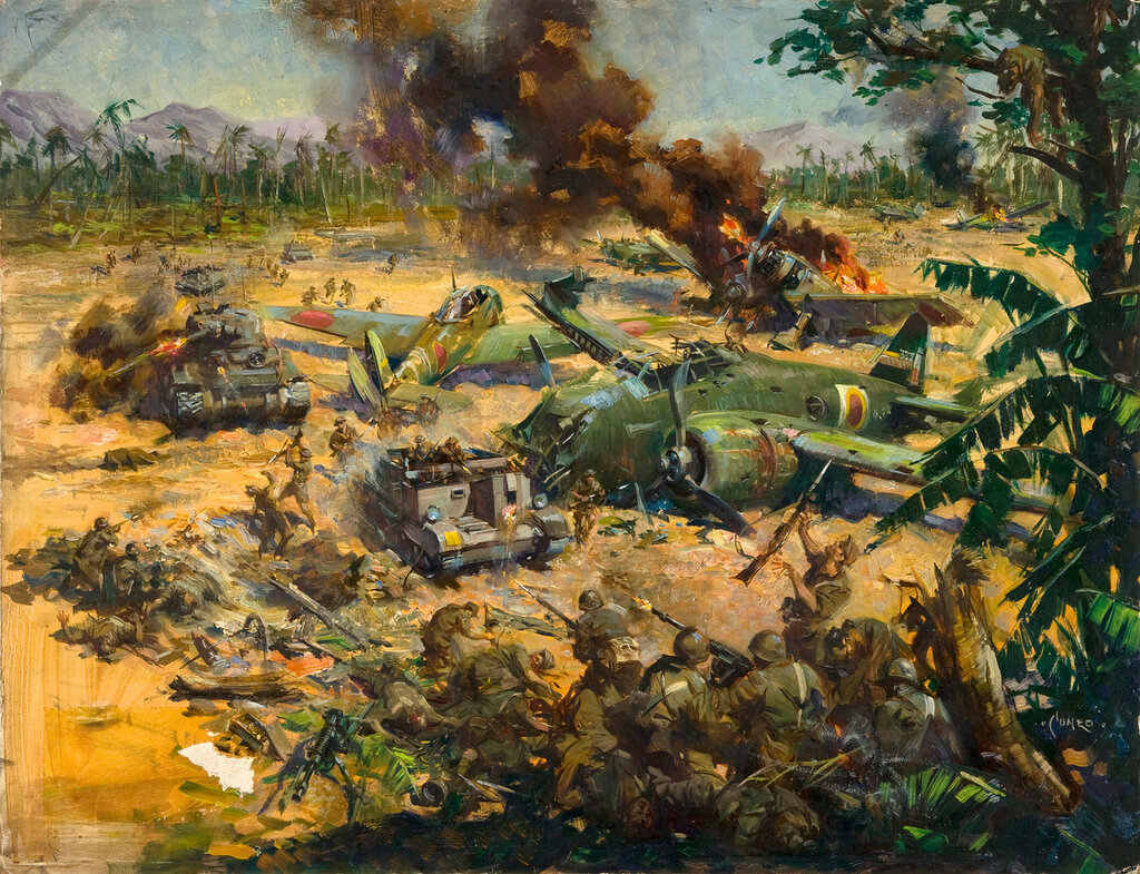 Terence Cuneo - Invasion scene in Far East