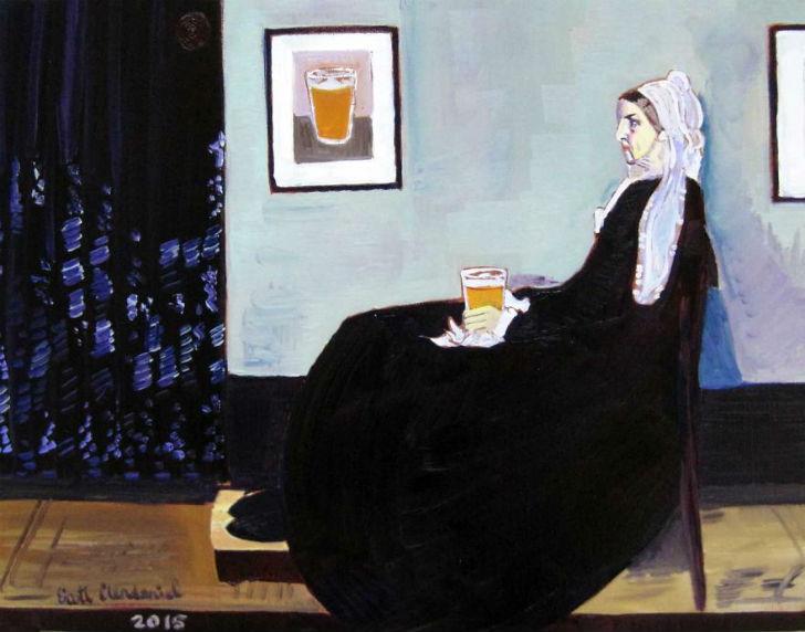 Мать Джеймса Уистлера с пинтой пива.