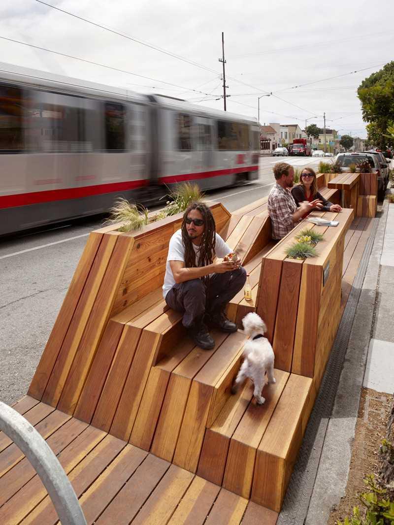 1. Этот парклет в Сан-Франциско был спроектирован INTERSTICE Architects.