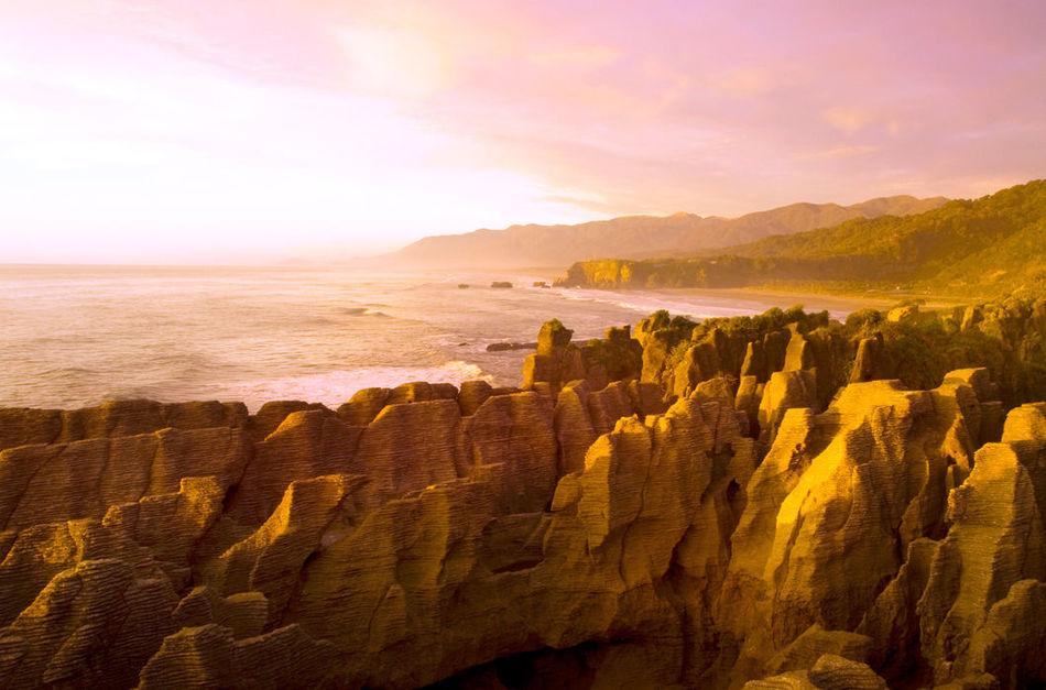 Блинные скалы, Новая Зеландия
