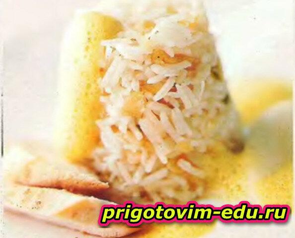 Рисовый пудинг с соусом карри