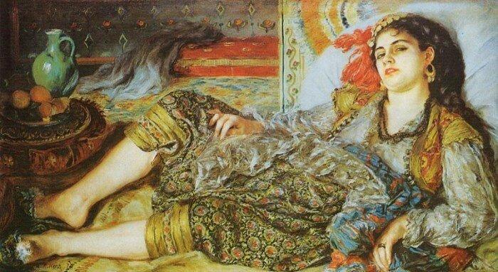 Огюст Ренуар. Одалиска (Алжирская женщина), 1870