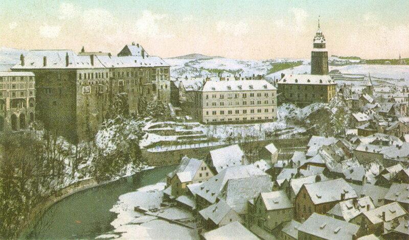 Богемский Круммау (Чески-Крумлов), зима 1905 г.