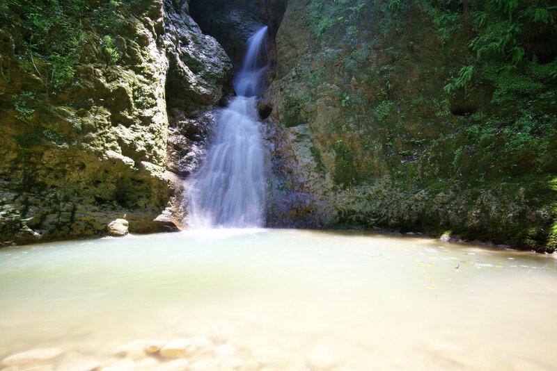 Водопад в устье Чинаревой балки