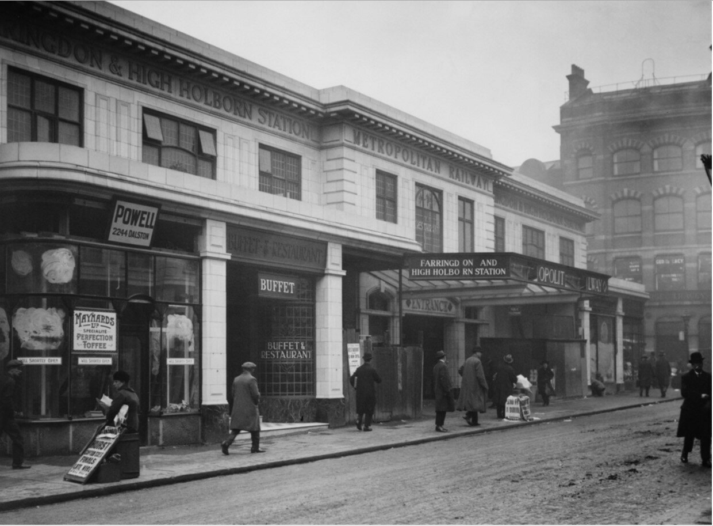 1924. Станция Фаррингдон. Март