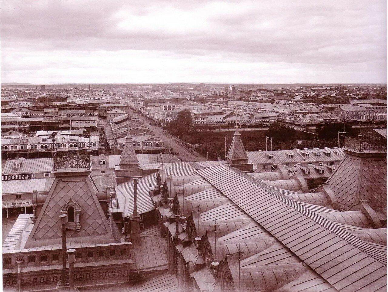 Панорама ярмарочной стороны в сторону Канавина с Главного ярмарочного дома
