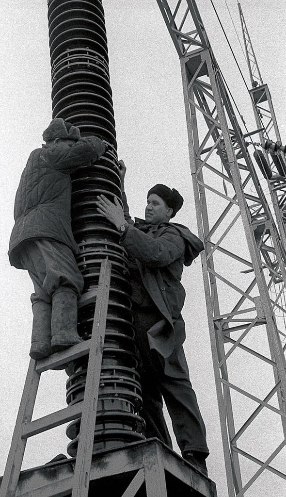 Южноуральск. Южноуральская ГРЭС. Монтаж оборудования (1951)