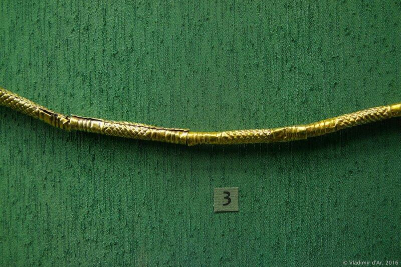 Ожерелье из трубочек – пронизей. IV вв. до н.э. Золото.