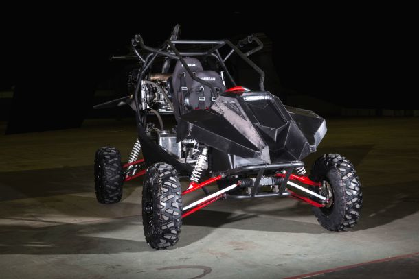 На наземно-воздушном гибриде установлен трехцилиндровый двигатель марки Ford Eco Boost, мощность кот