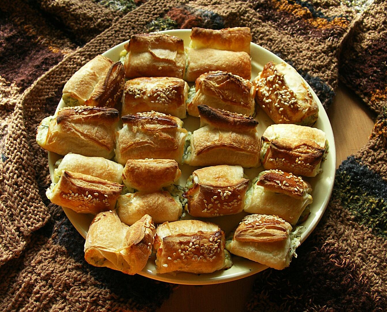слоёные булочки солёные