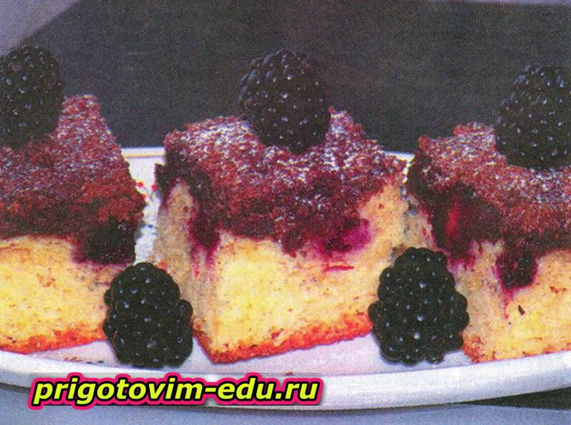 Пирог с ежевикой и шоколадным штрейзелем