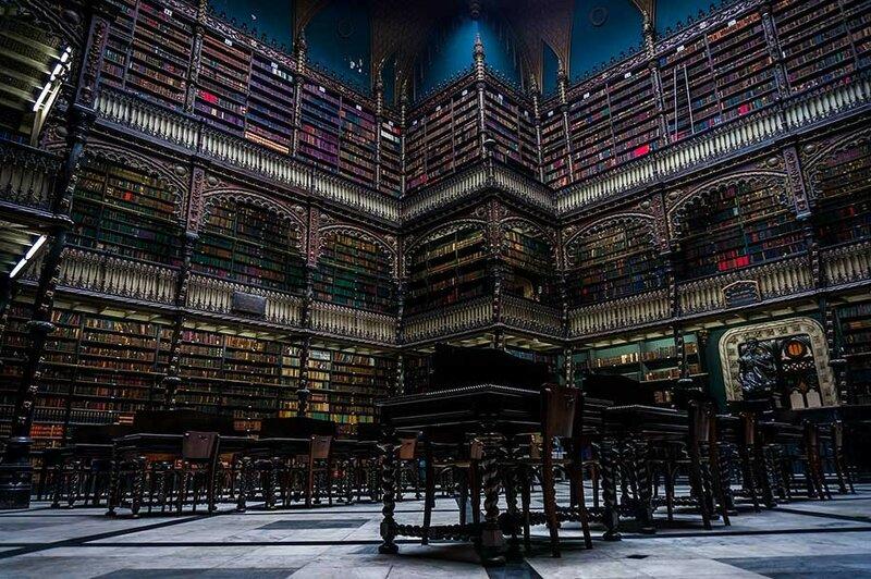 Португальская королевская библиотека, Рио-де-Жанейро, Бразилия.